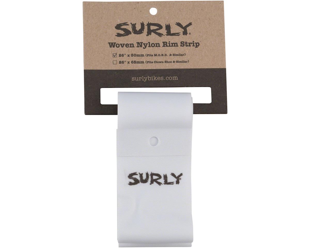 Surly Rim Strip: For Other Brother Darryl Rim, Nylon, 50mm wide, White