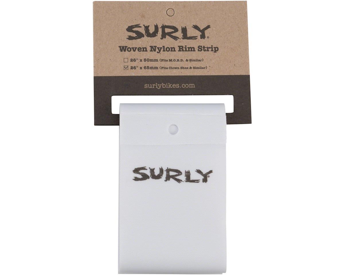 Surly Rim Strip: For Clown Shoe Rim, Nylon, 65mm wide, White