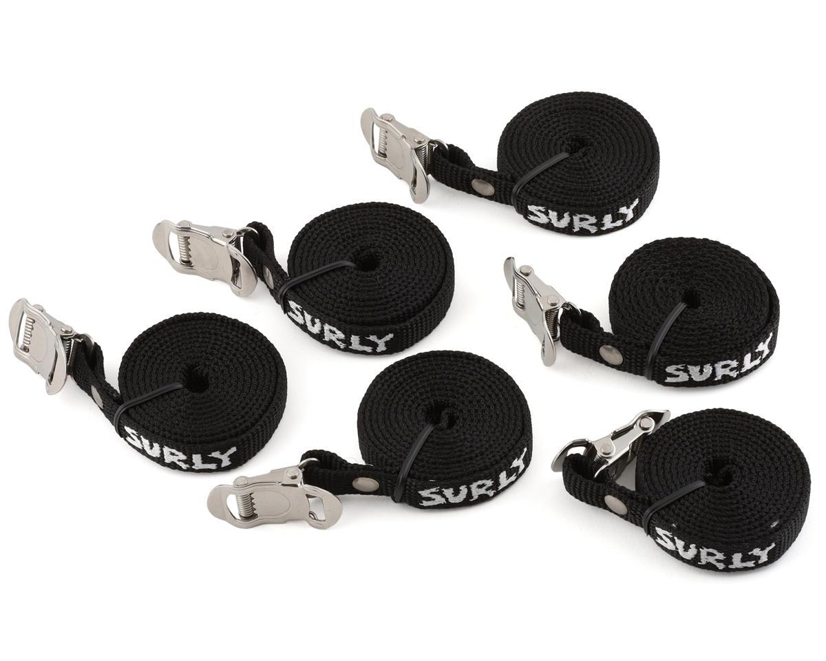 Surly Junk Strap 120cm Rack Strap (Black) (6-Pack)