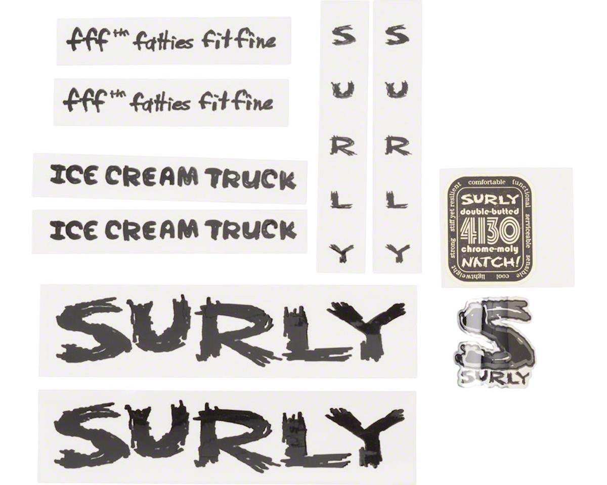 Ice Cream Truck Frame Decal Set Black