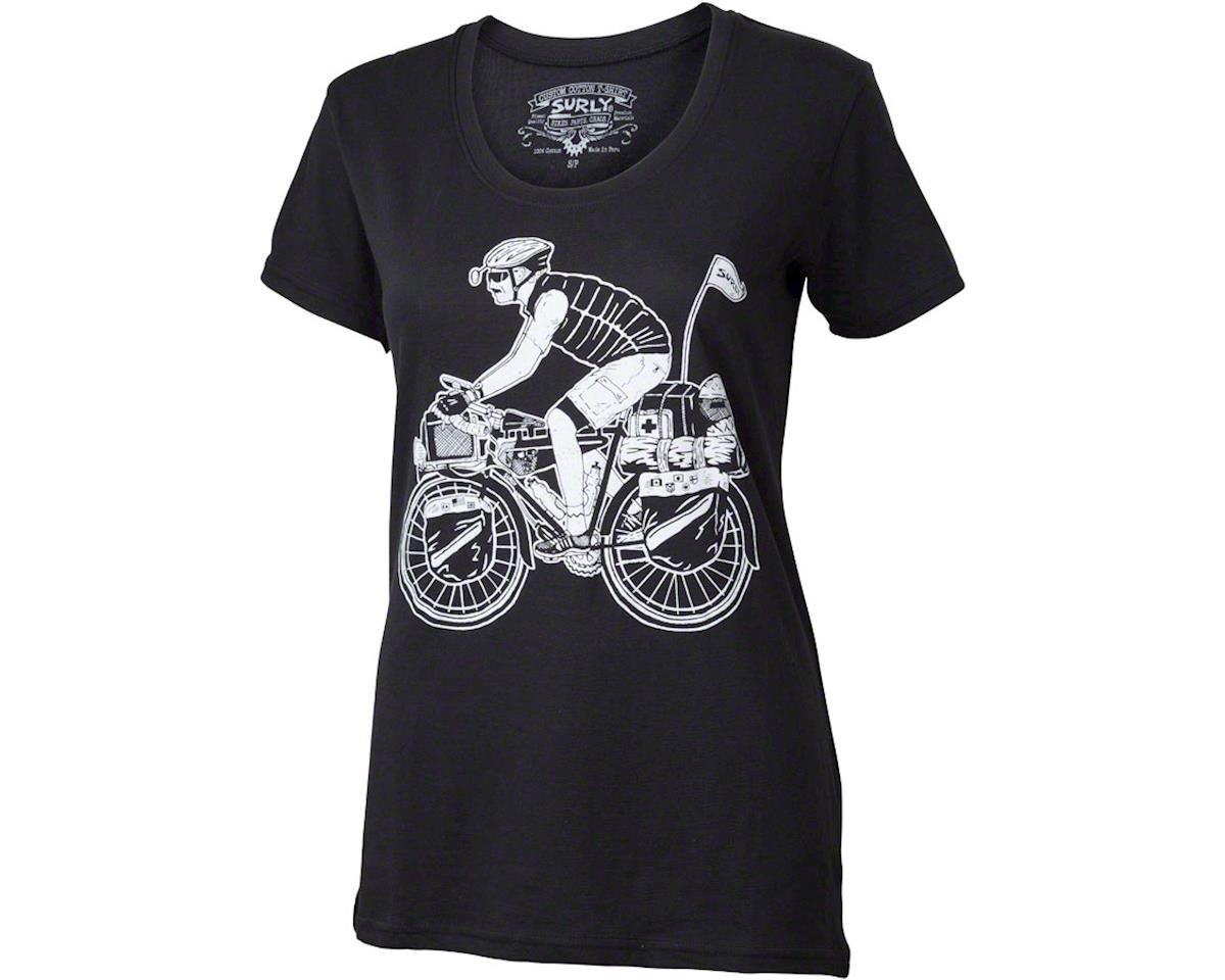 ad33288d8 Surly Safety First Long Haul Trucker George Women's T-Shirt: Black LG  [PCC-810] | Clothing - AMain Cycling