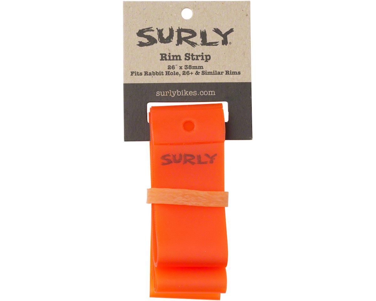 Surly Rim Strip: For 26+ Rabbit Hole Rim, PVC, 38mm wide, Orange