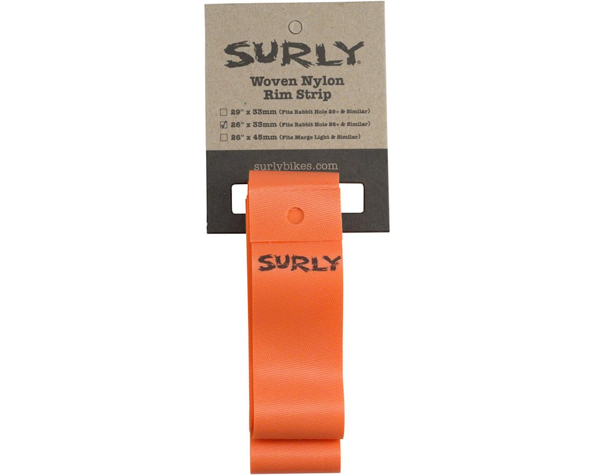 Surly Rim Strip: For 26+ Rabbit Hole Rim, Nylon, 33mm wide, Orange