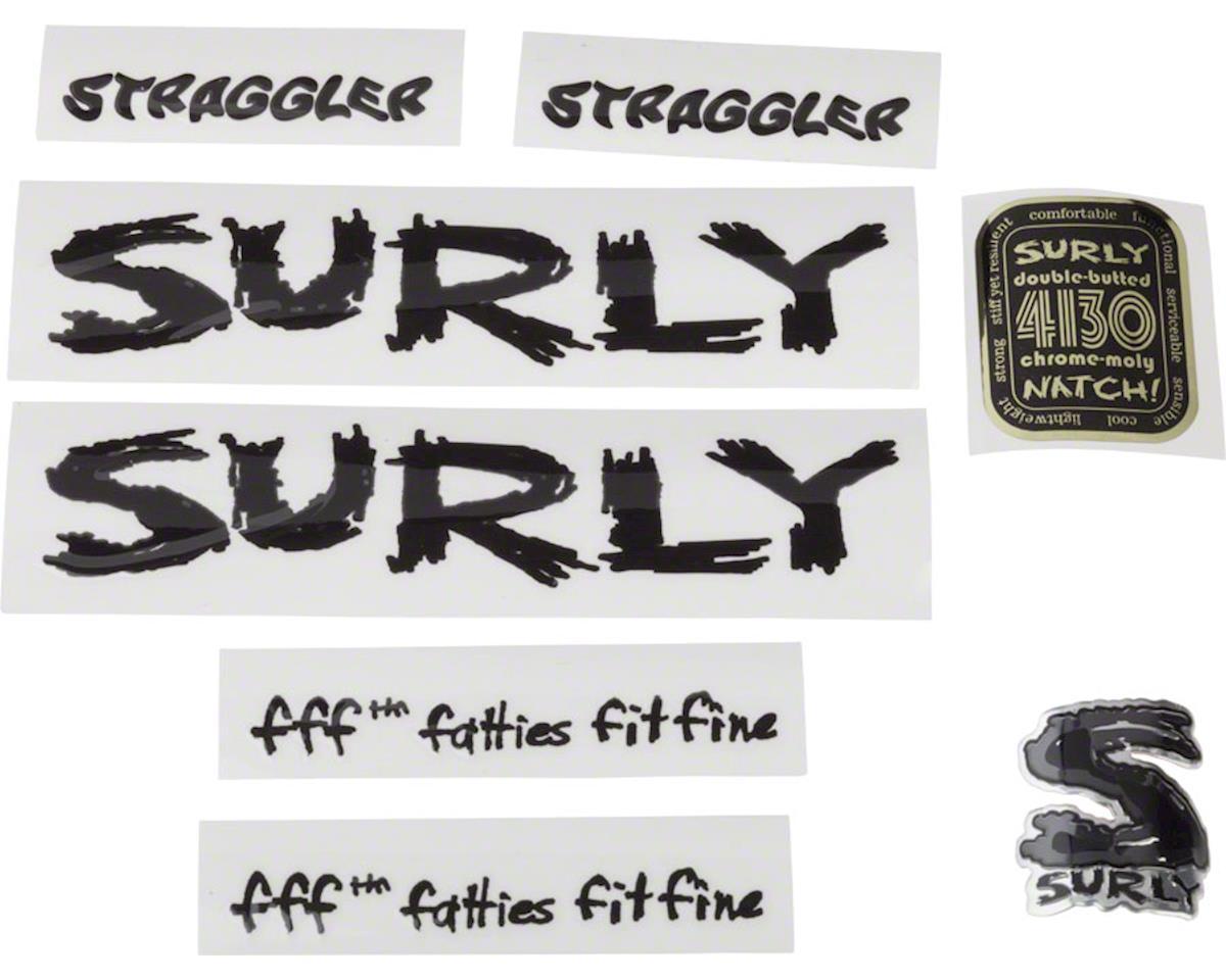 Straggler Frame Decal Set: Black
