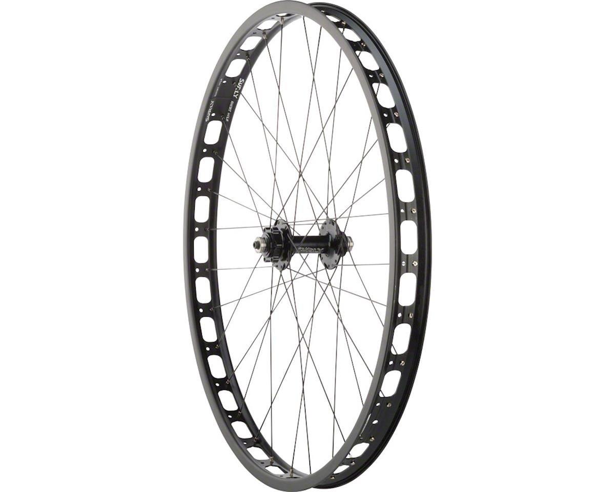 Rabbit Hole Rear Wheel: 29+ QR x 135mm 17.5mm Offset Single-Speed, Black