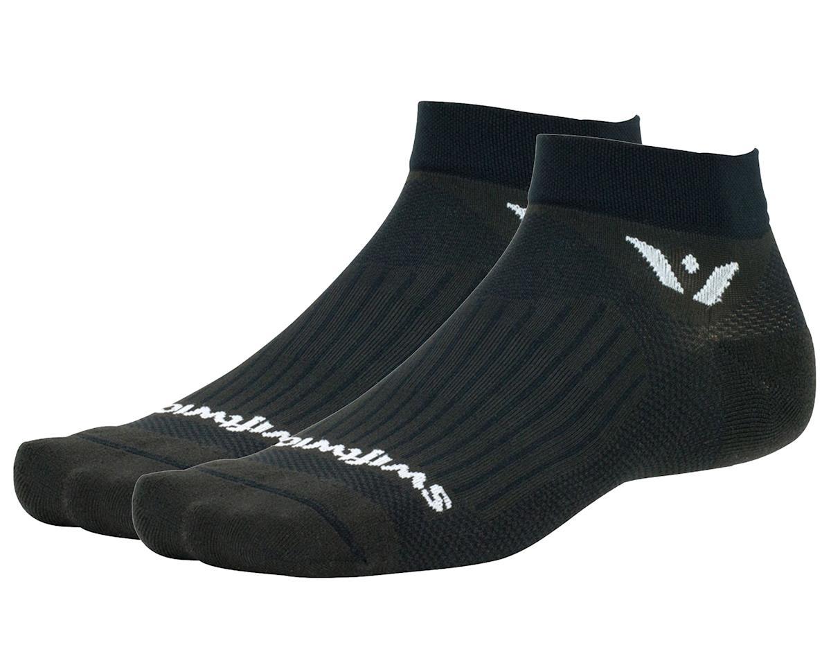 "Swiftwick Aspire One 1"" Cuff Sock (Black) (S)"