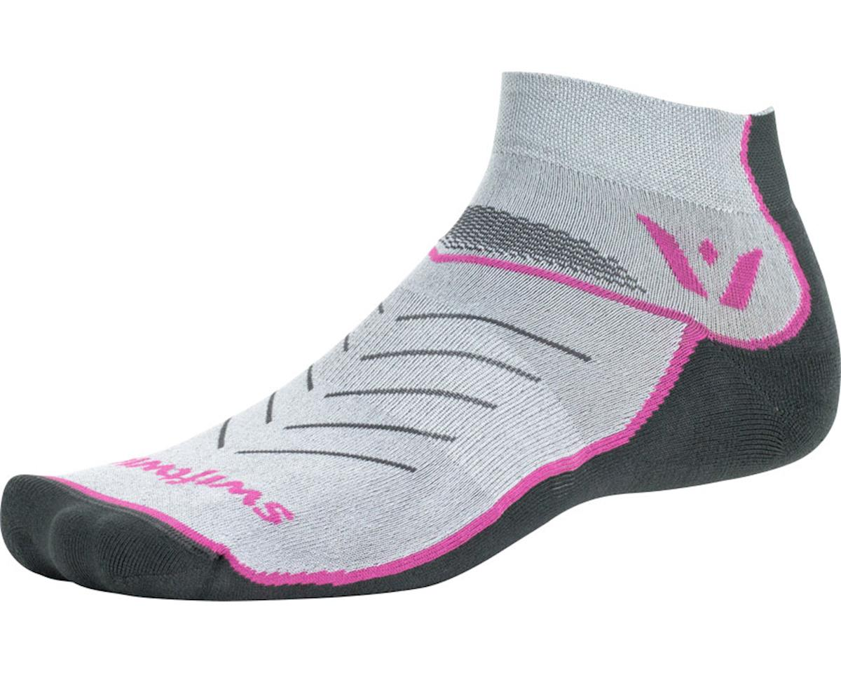 Swiftwick Vibe One Sock (Pewter/Pink/Gray) (S)