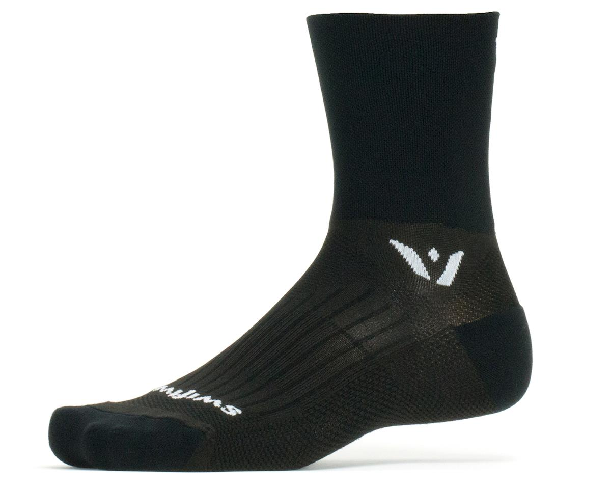 Swiftwick Performance Four Sock (Black) (XL)