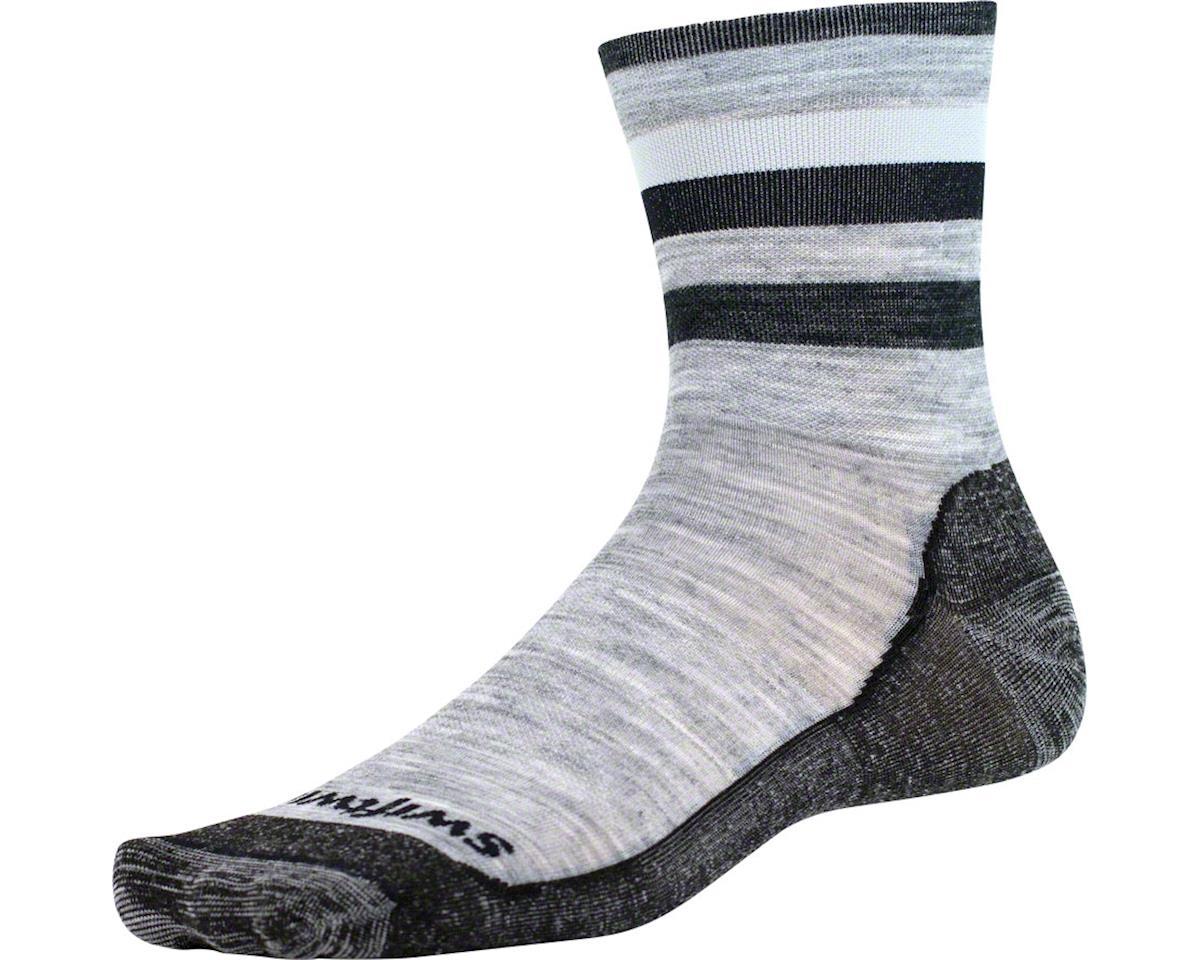 Swiftwick Pursuit Four Ultra Light Hike Sock (Heather Gray/Black) (L)