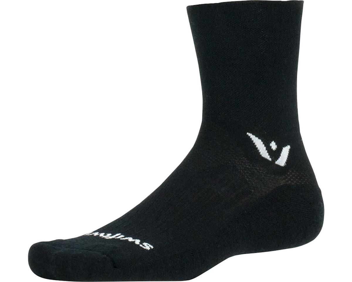 Swiftwick Pursuit Four Sock (Black) (XL)
