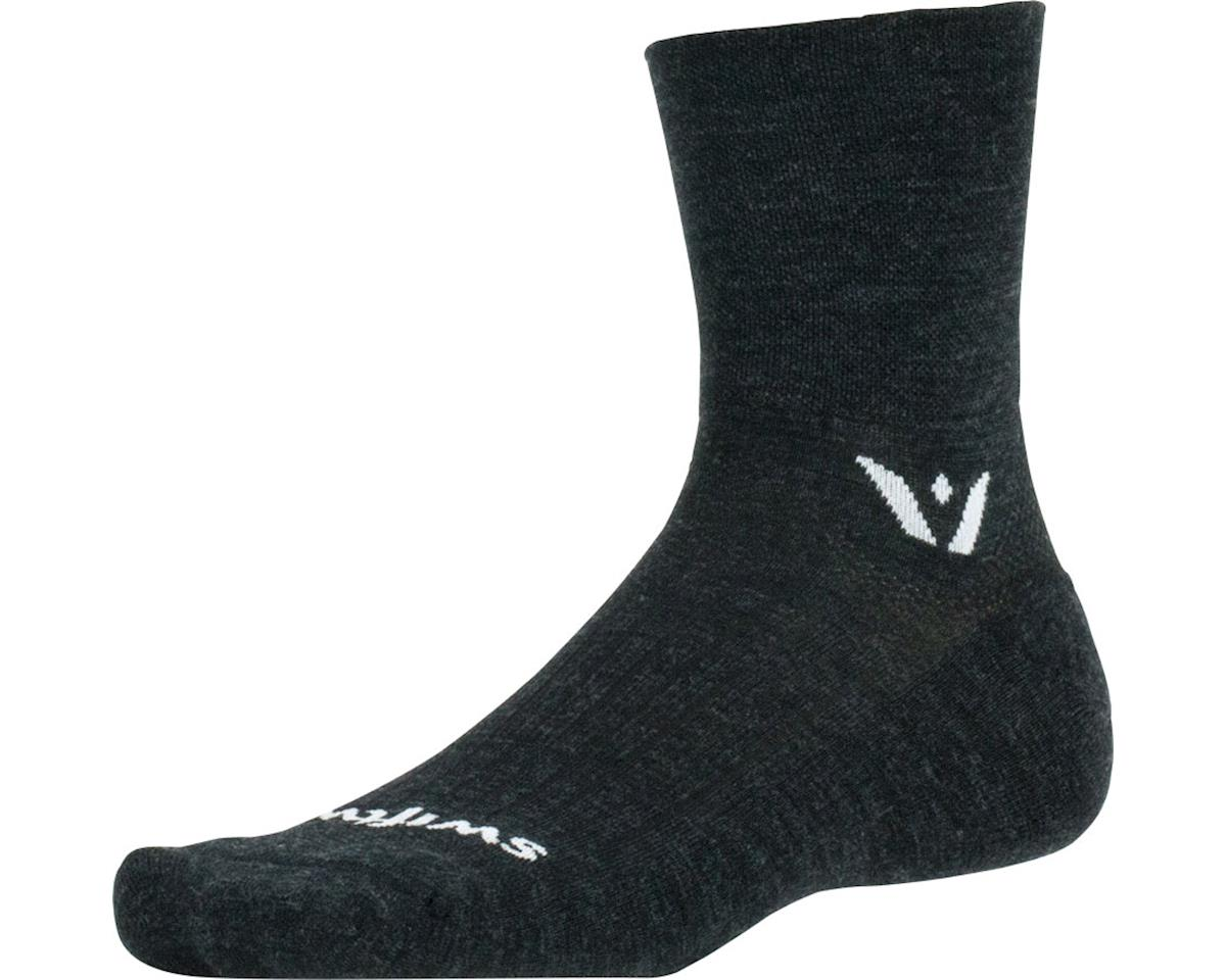 Swiftwick Pursuit Four Sock (Coal Black) (S)