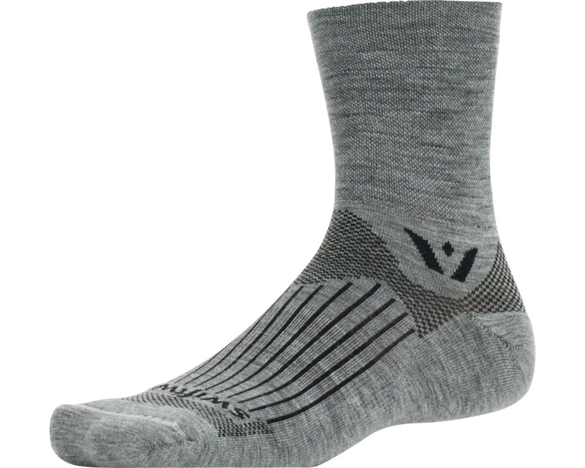 Swiftwick Pursuit Four Sock (Heather Grey)