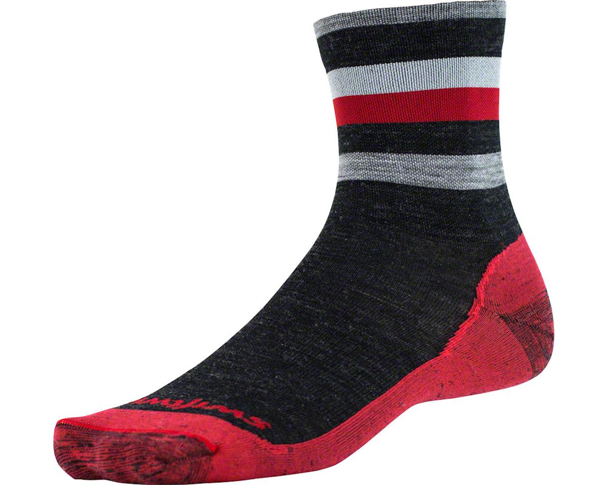 Swiftwick Pursuit Four Ultra Light Hike Sock (Coal Red) (S)