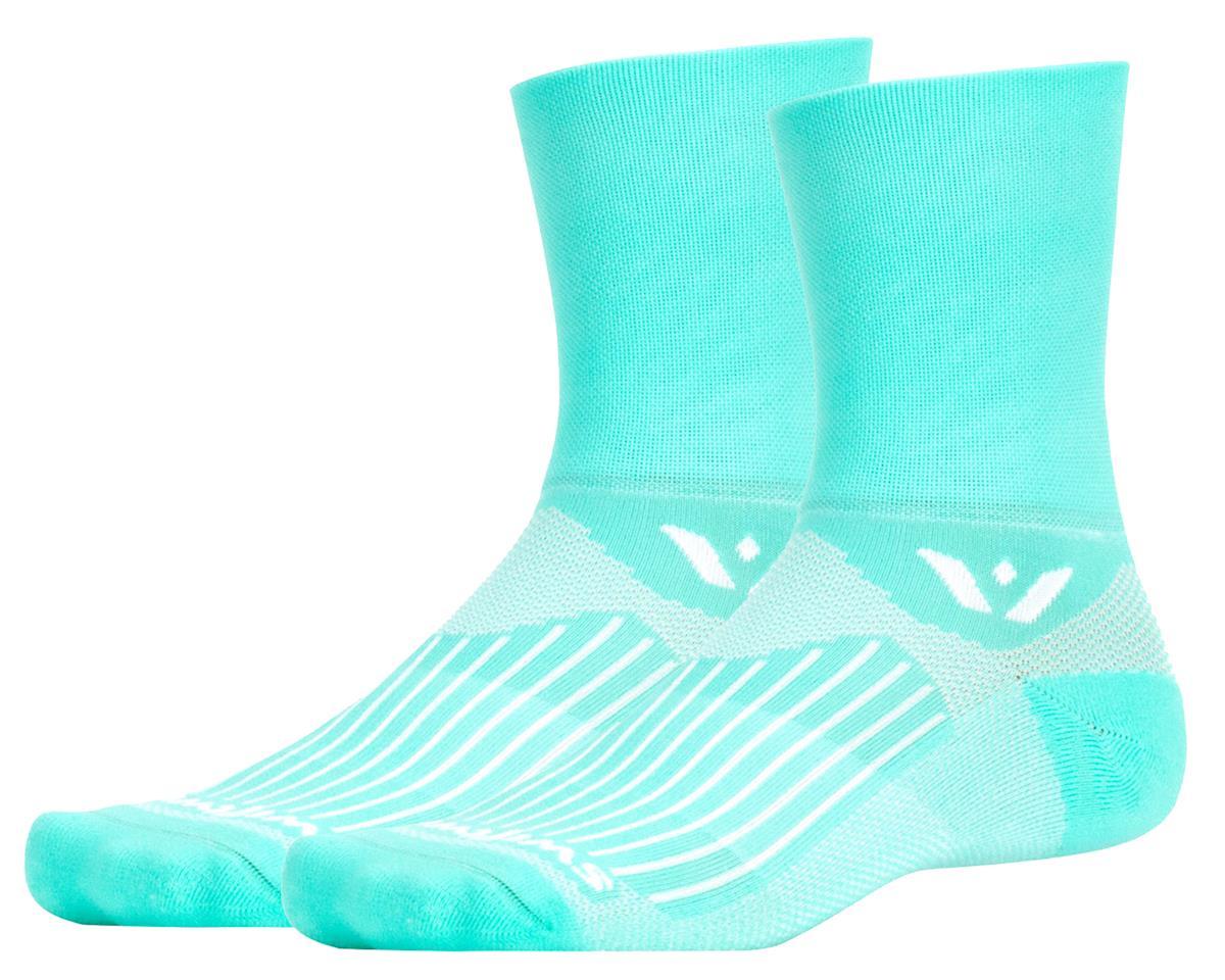 Swiftwick Aspire Four Sock (Cool Mint Blue) (L)