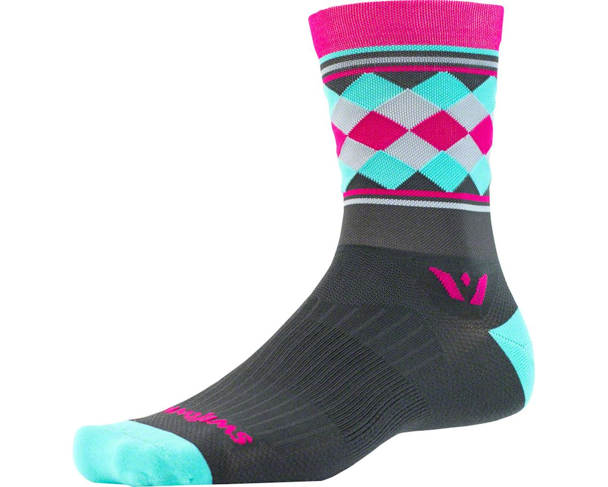 Vision Five Argyle Sock: White/Red/Navy LG/XL