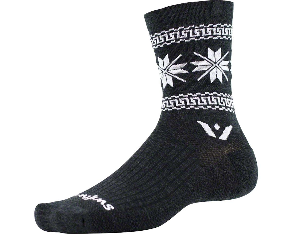 Vision Five Winter Collection Sock (Coal Black/White)
