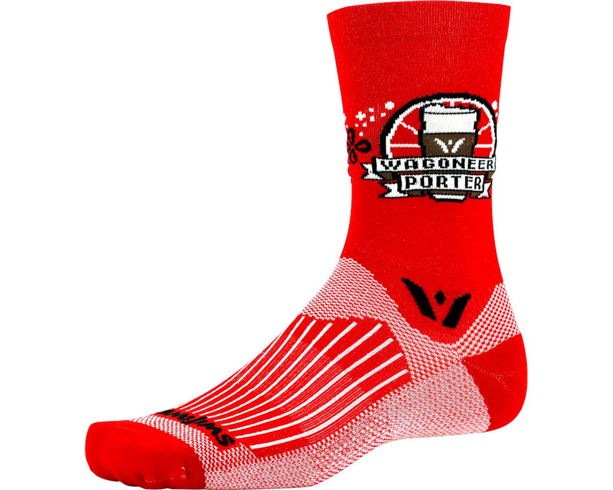 Swiftwick Vision Five Beer Series Sock (Wagoneer Porter/Red) (S/M)