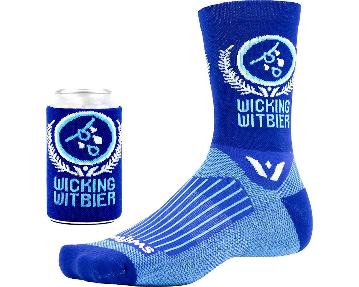 Swiftwick Vision Five Beer Series Sock (Wicking Witbier/Blue) (S/M)
