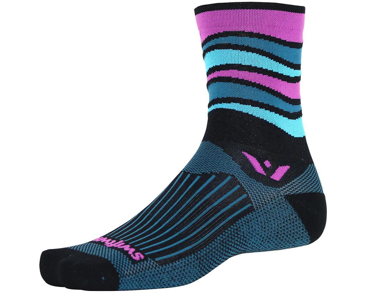 Image 1 for Swiftwick Vision Five Wave Sock (Black) (M)