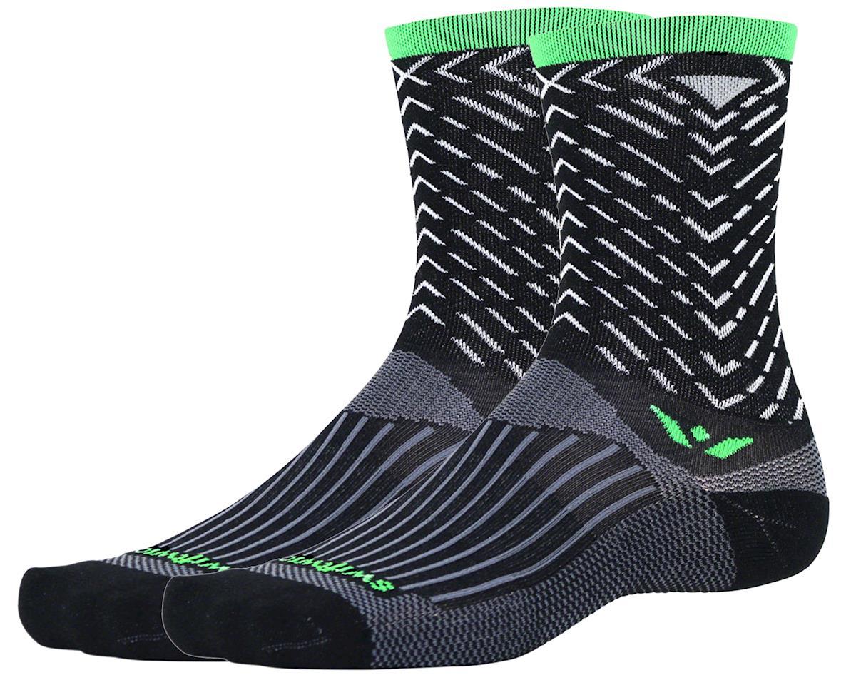 Swiftwick Vision Seven Tread Sock (Black) (L)