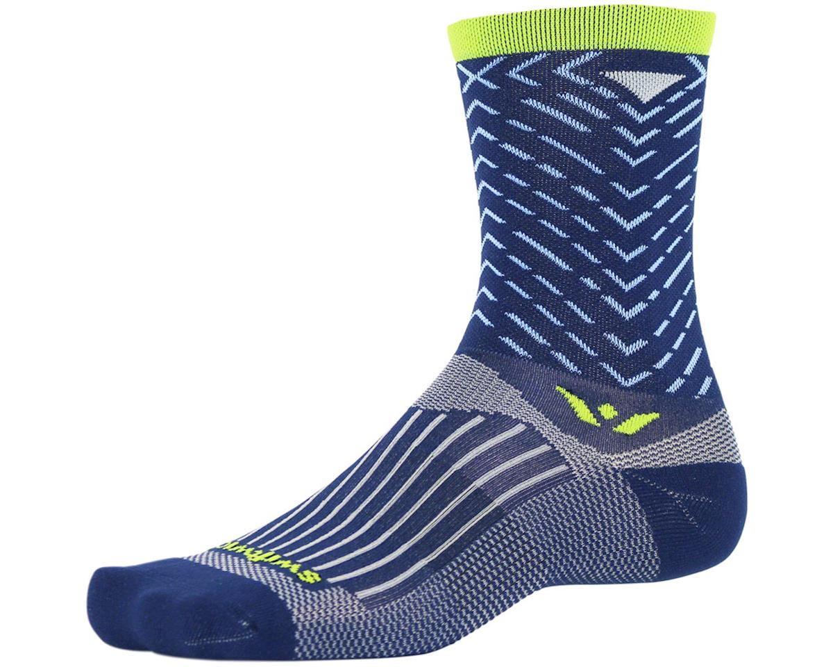 Swiftwick Vision Seven Tread Sock (Navy Blue) (L)