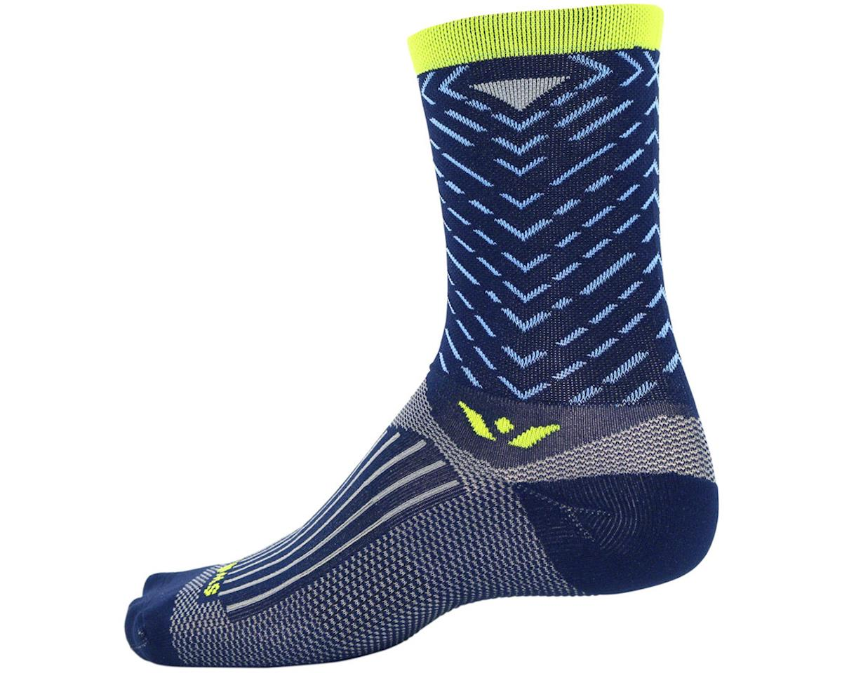 Swiftwick Vision Seven Tread Sock (Navy Blue) (S)