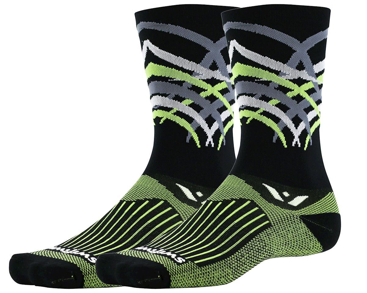 Swiftwick Vision Seven Shred Sock (Black) (L)