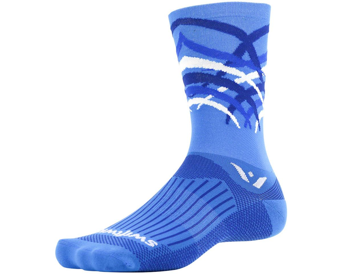 Swiftwick Vision Seven Shred Sock (Blue) (L)