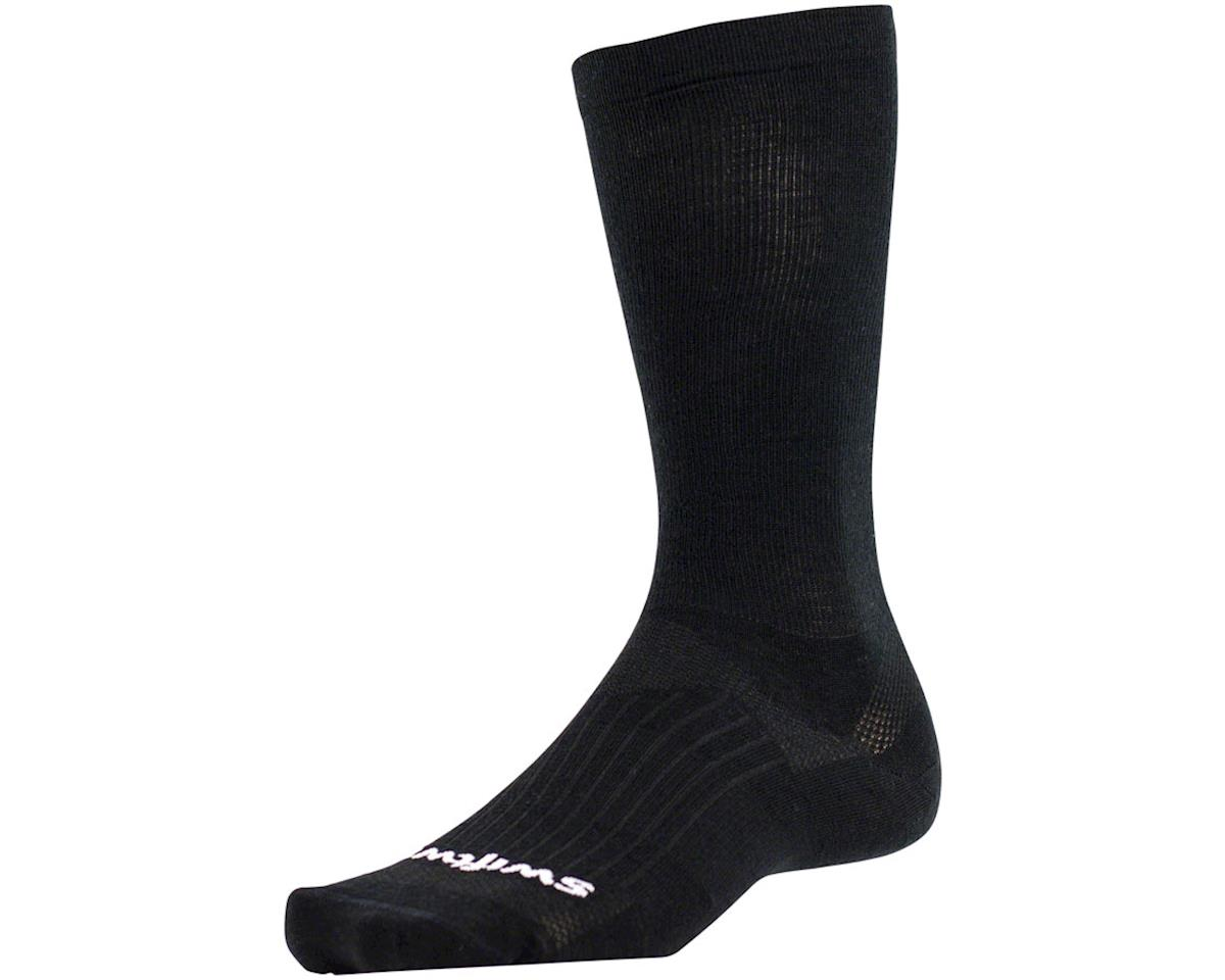 Swiftwick Pursuit Eight Business Sock (Black) (L)
