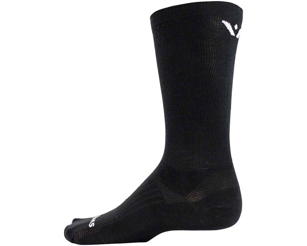 Swiftwick Pursuit Eight Business Sock (Black) (L)