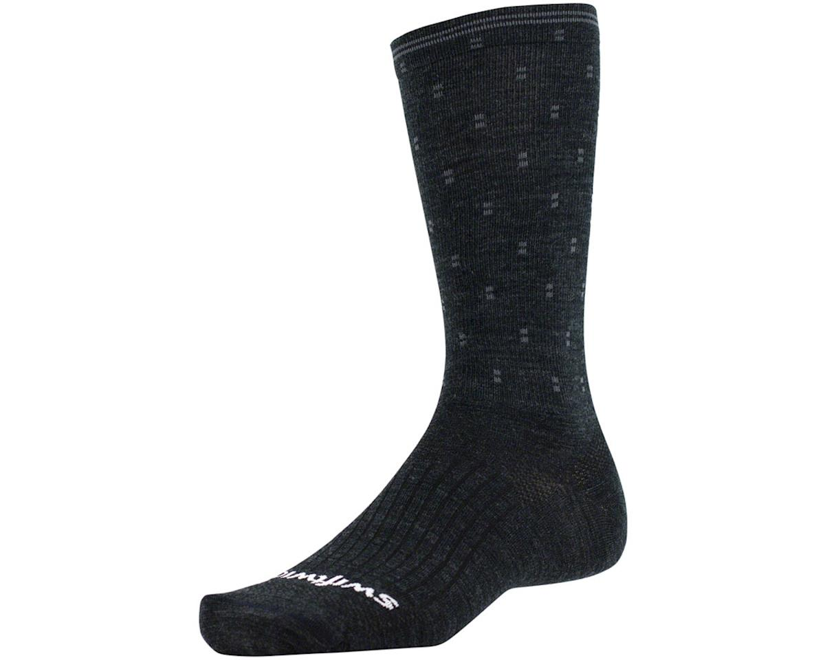 Swiftwick Pursuit Eight Business Sock (Coal/Gray Dots) (L)