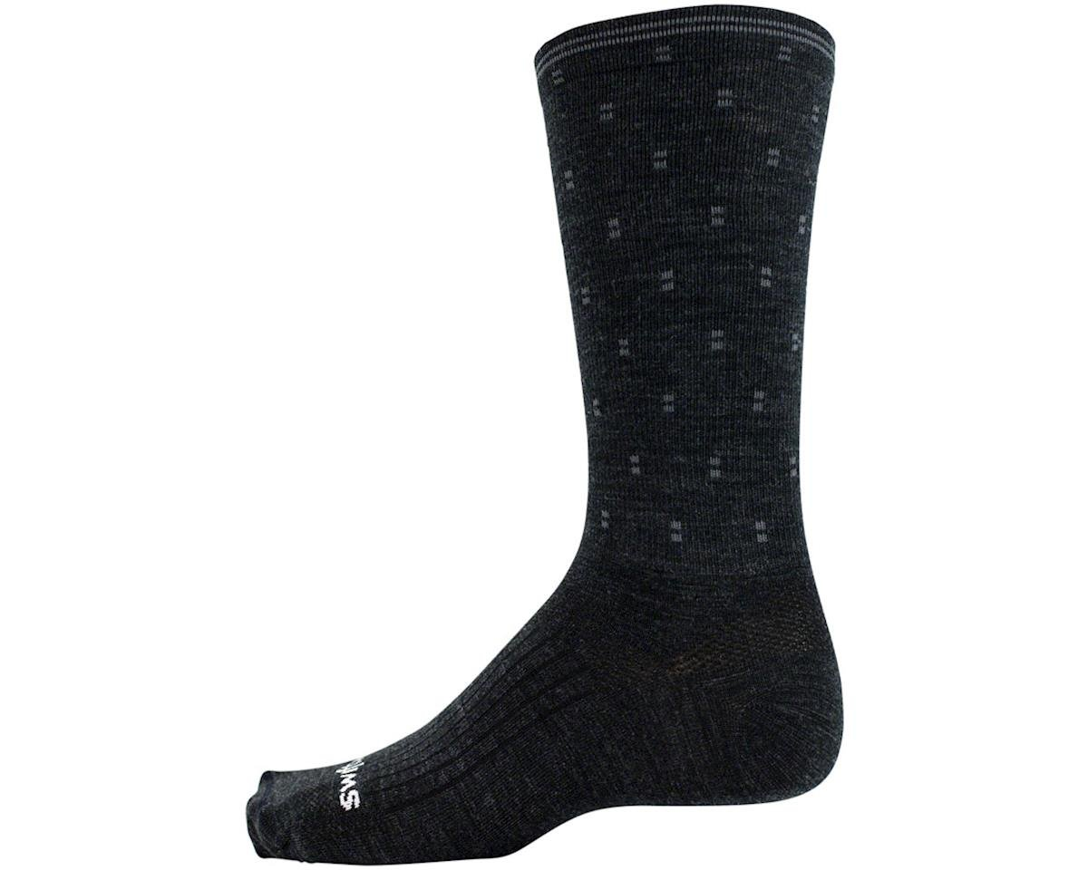 Swiftwick Pursuit Eight Business Sock (Coal/Gray Dots) (XL)
