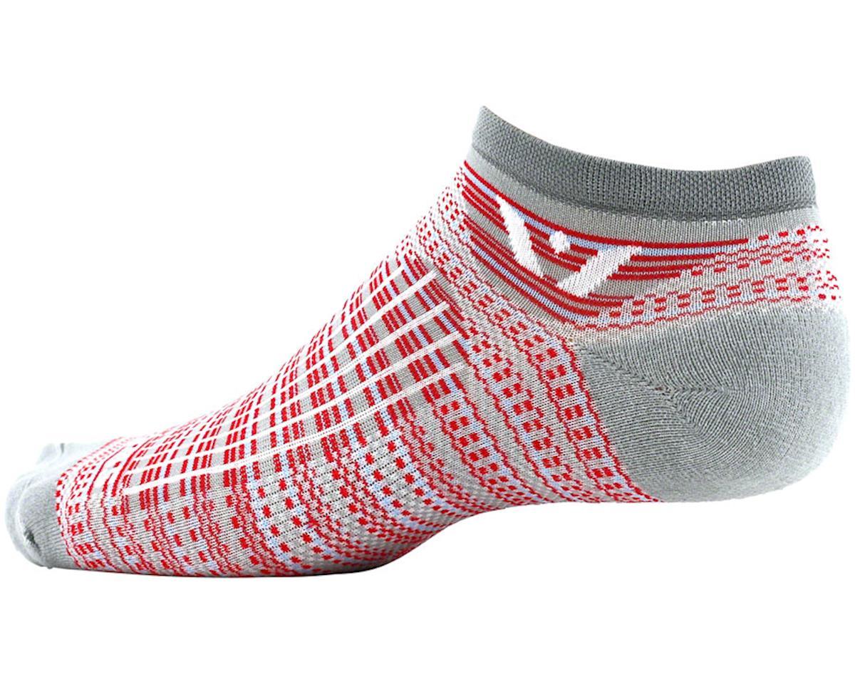 Swiftwick Aspire Stripe Zero Sock (Pewter/Red) (L)