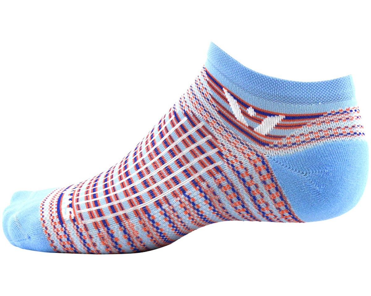 Swiftwick Aspire Stripe Zero Sock (Sky Blue/Orange) (L)