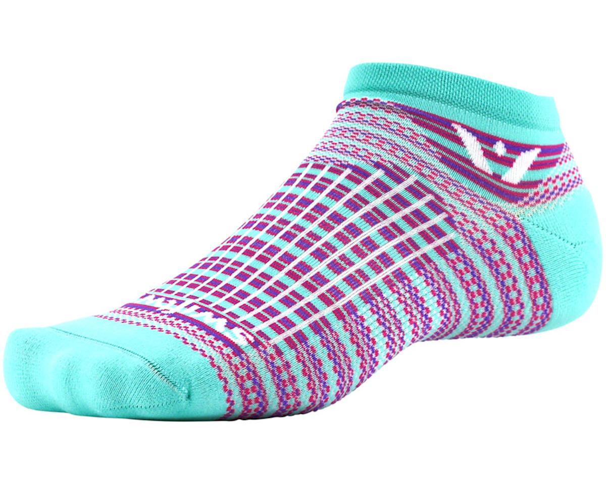 Swiftwick Aspire Stripe Zero Sock (Mint/Pink)