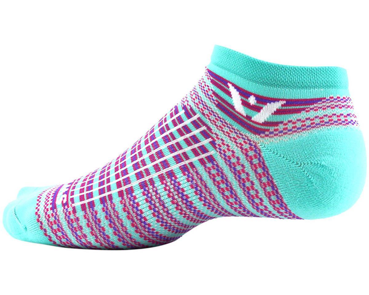 Swiftwick Aspire Stripe Zero Sock (Mint/Pink) (L)