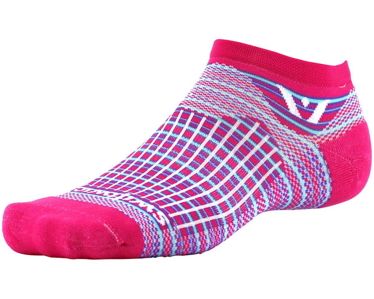 Swiftwick Aspire Stripe Zero Sock (Pink/Purple) (L)