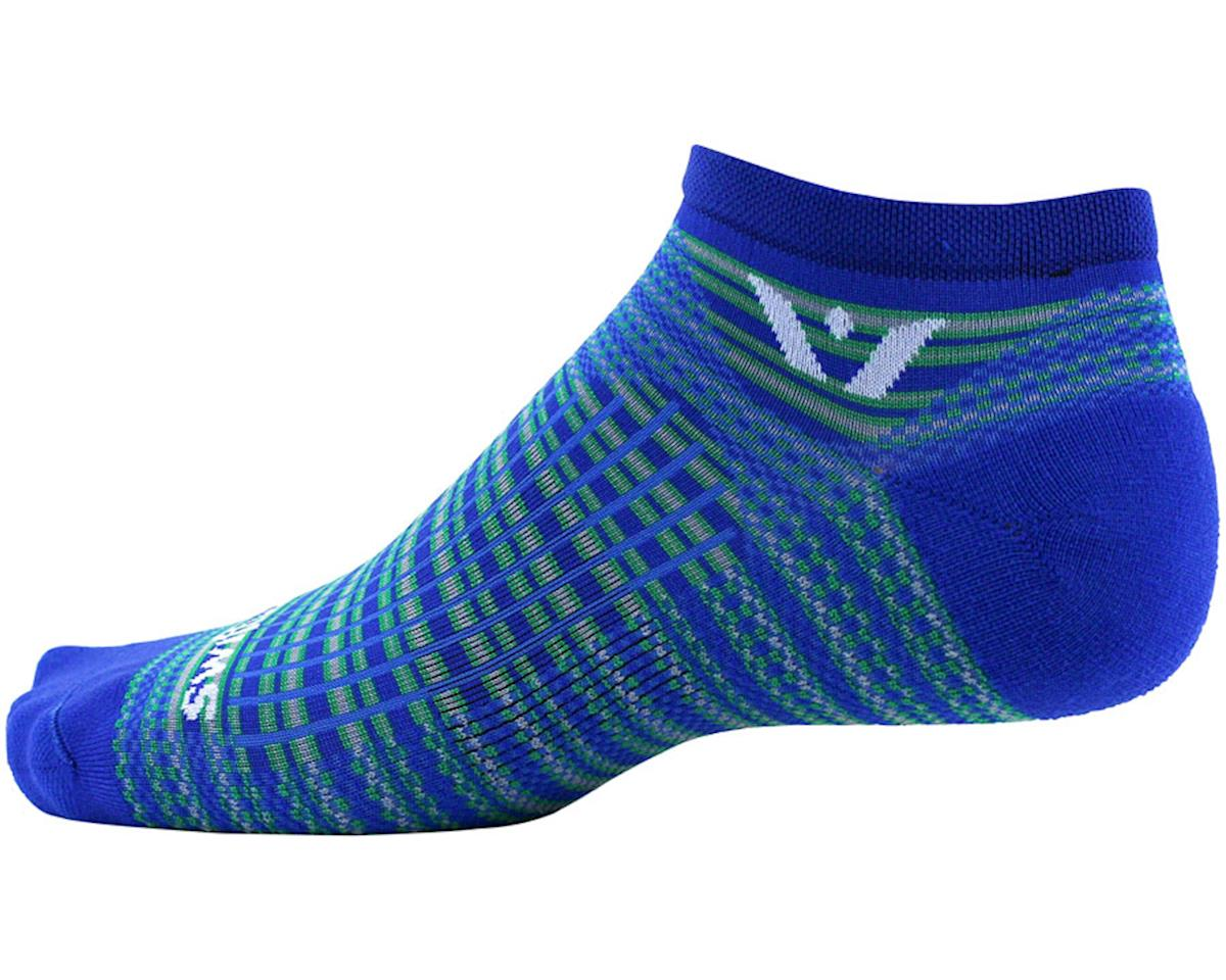 Swiftwick Aspire Stripe Zero Sock (Royal/Green) (L)
