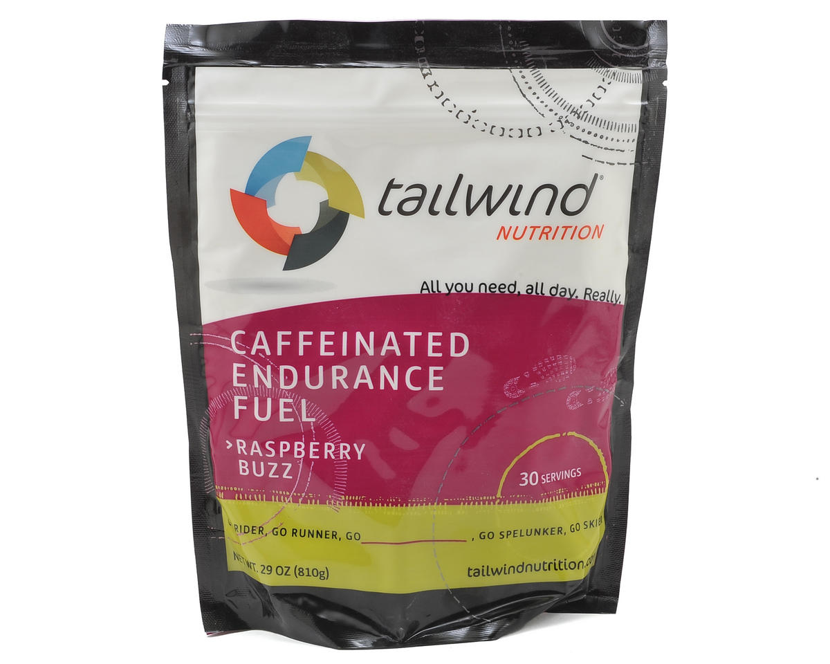Tailwind Nutrition Raspberry Buzz Cafeinated Endurance Fuel (30 Serving Bag)