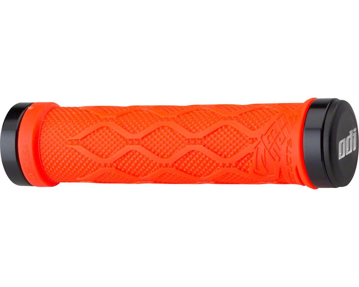 Tangent Products Lock-ons Grips - Neon Orange, Lock-On