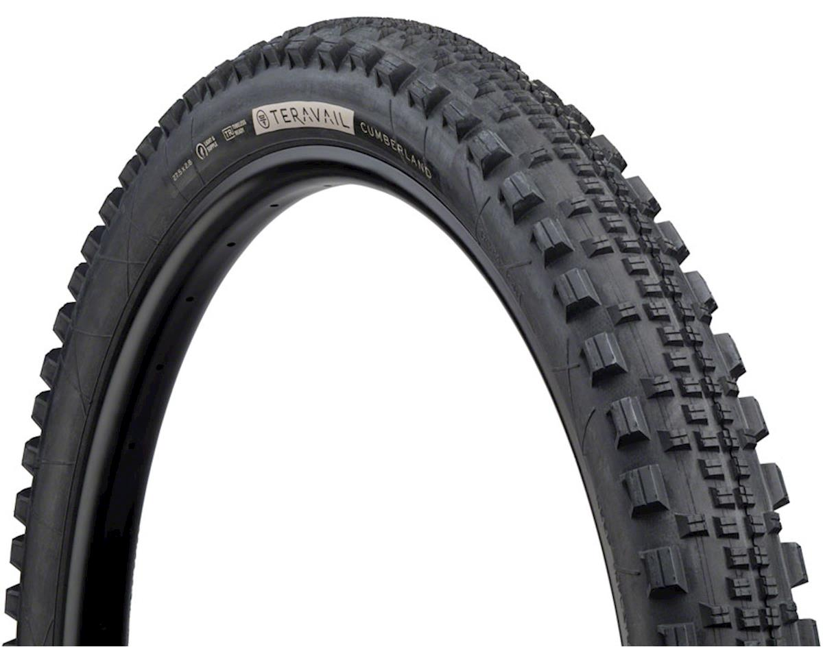 """Teravail Cumberland Tire, 27.5+ x 2.8"""", Light and Supple, Tubeless- Ready, Black"""