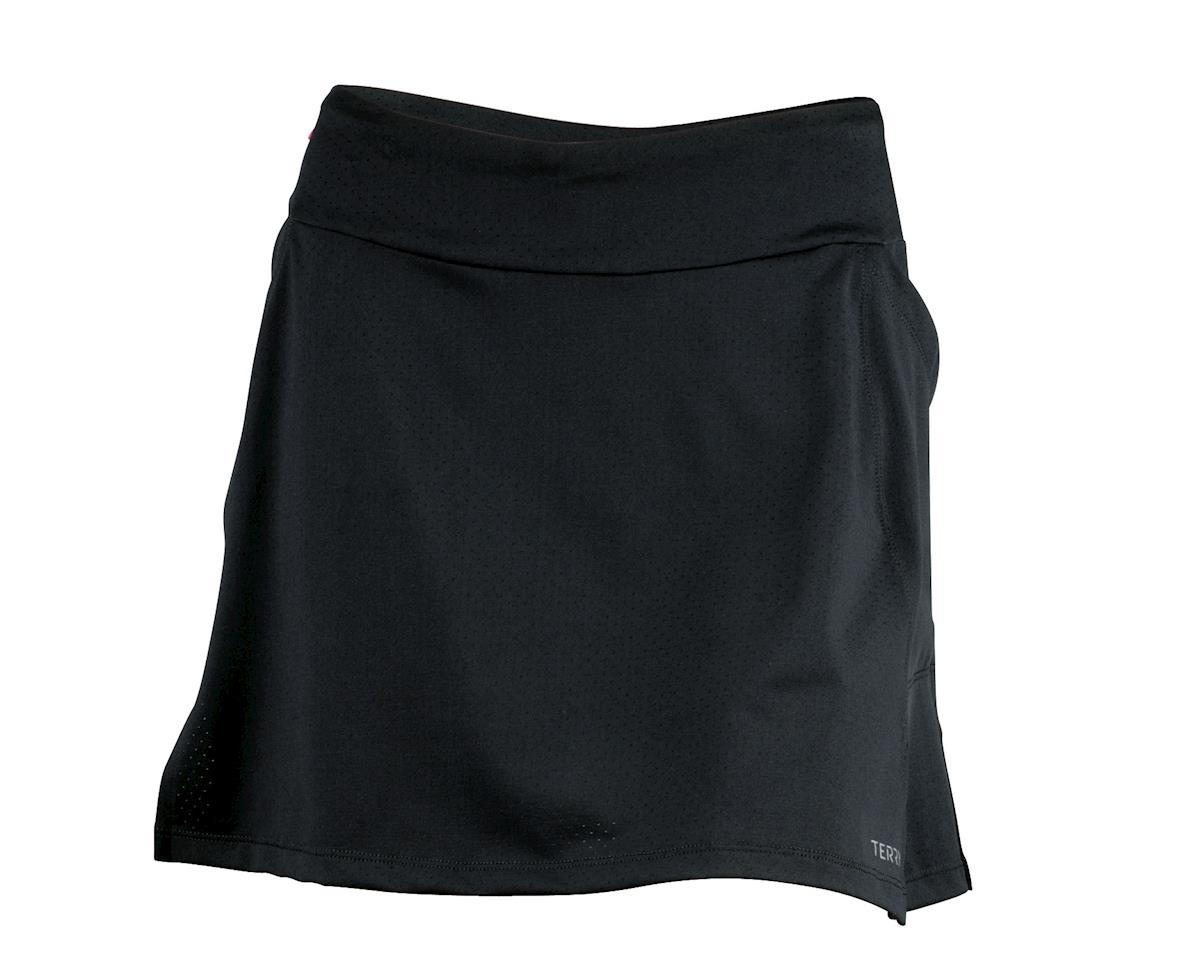 Terry Women's Flare Plus Size Skort (Black) (Xlarge)