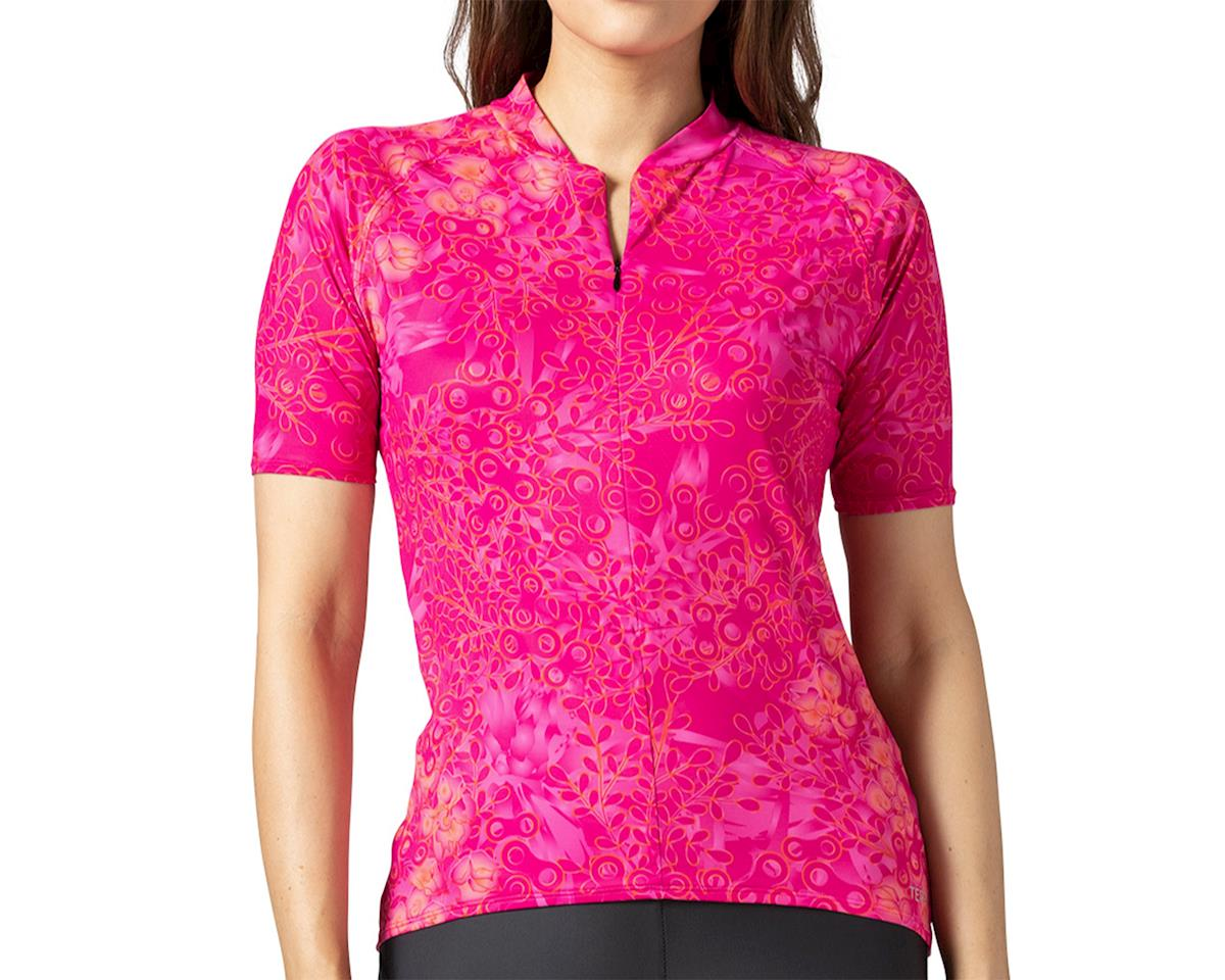 Terry Soleil Short Sleeve Jersey (Hydrange/Beetroot) (XL)