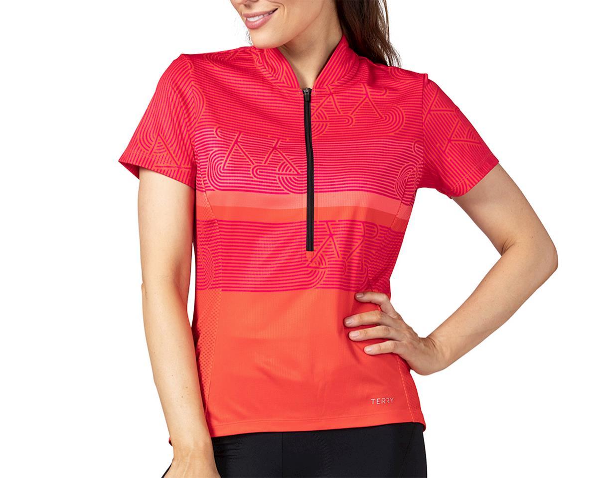Terry Breakaway Mesh Short Sleeve Jersey (Zoom/Fire) (XS)