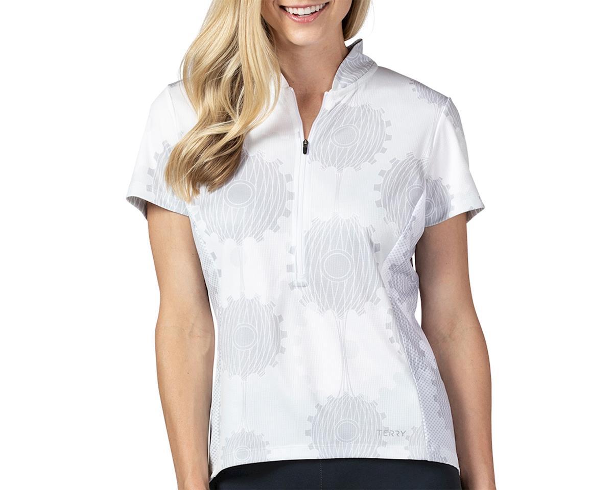 Terry Breakaway Mesh Short Sleeve Jersey (Retrogear/White) (L)