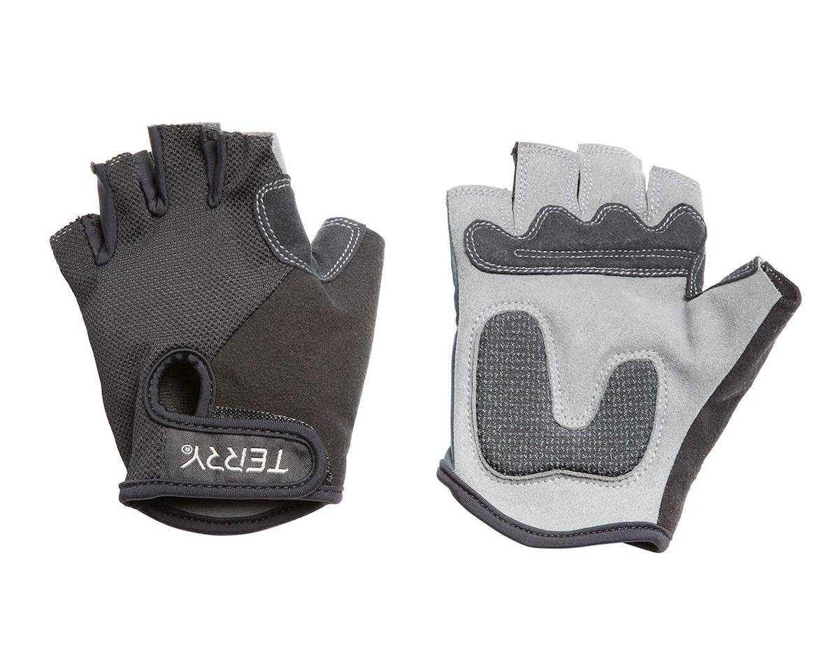 Terry T-Gloves (Black Mesh) (S)