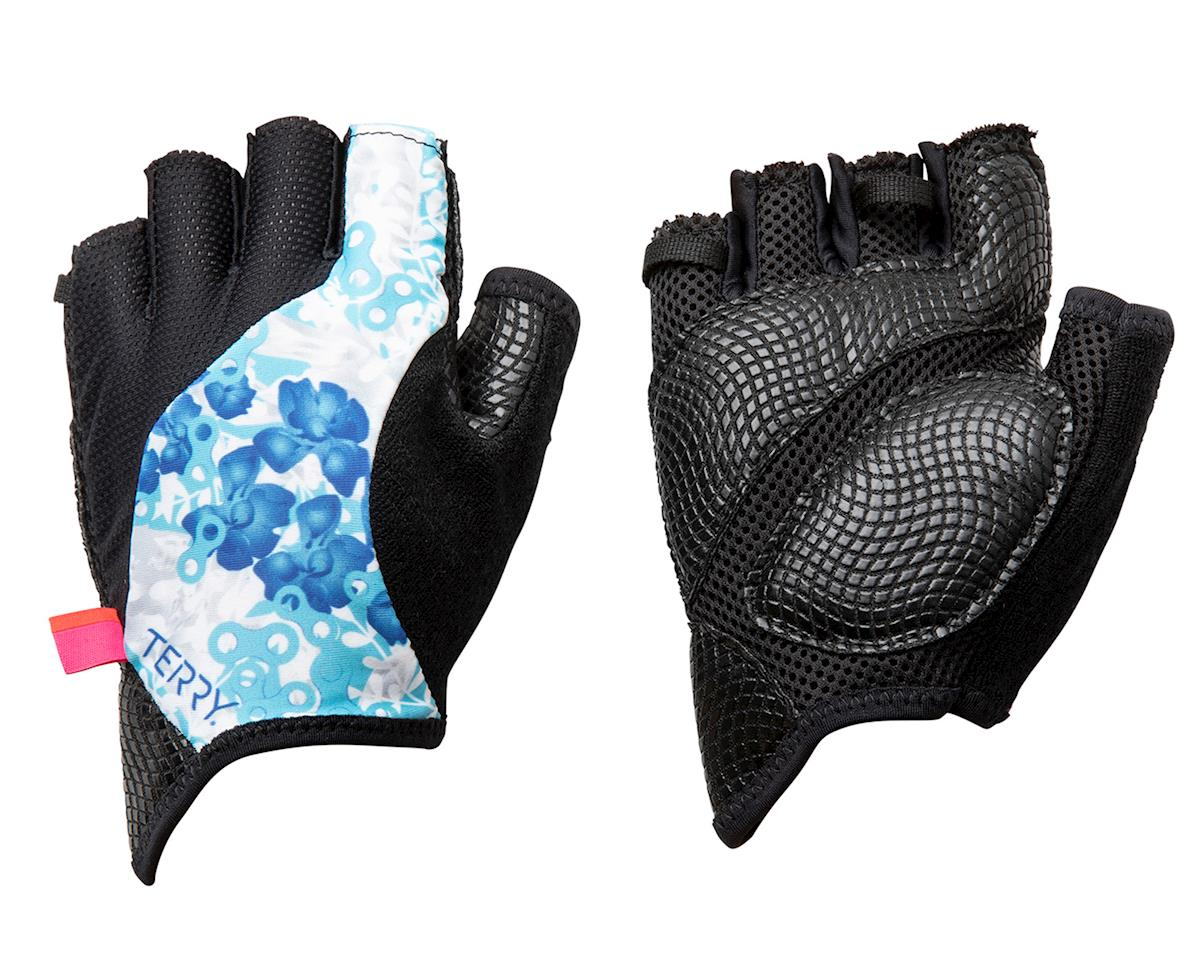Terry Bella Gloves (Hydrange/White) (L)