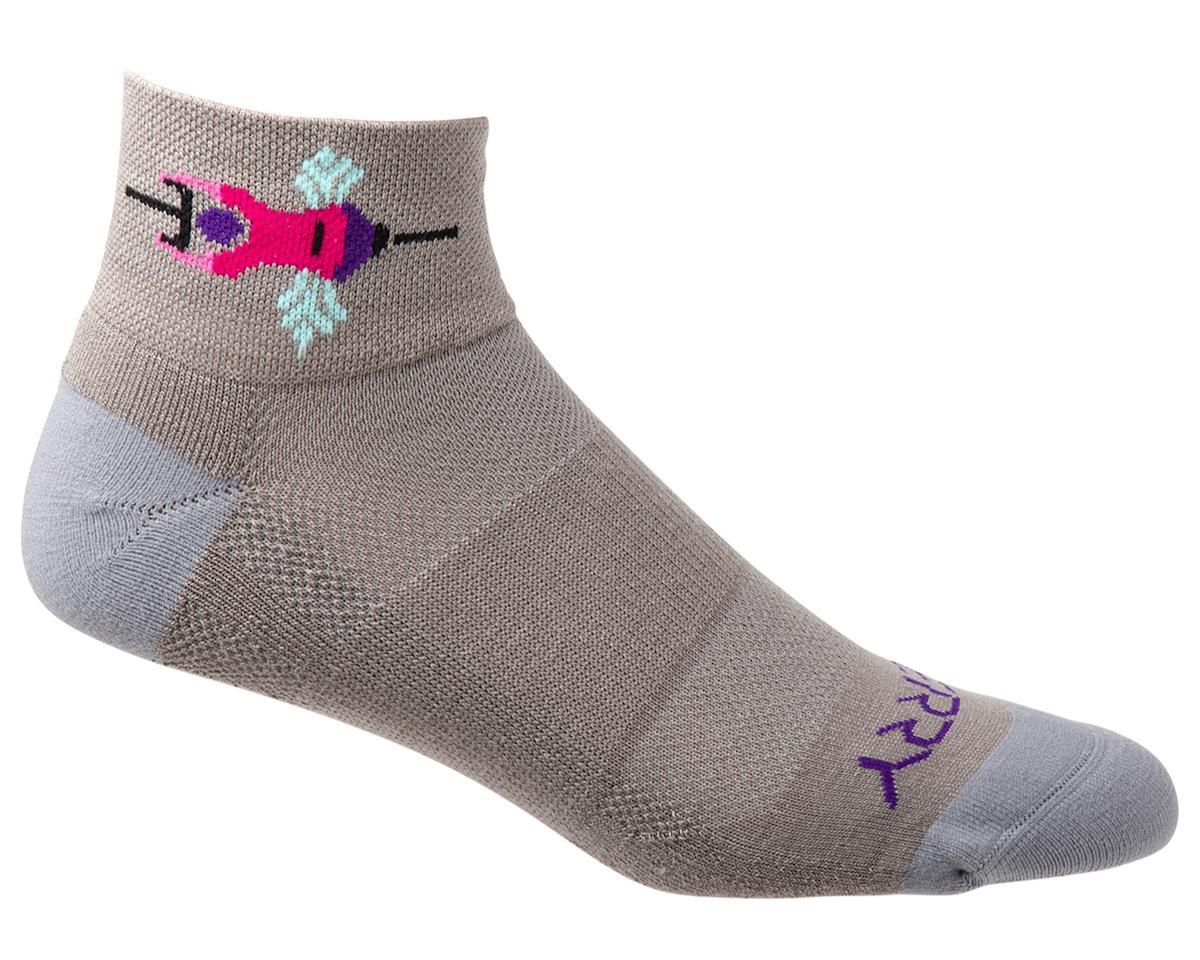 Terry Air Stream Socks (Team Ride/Gray)