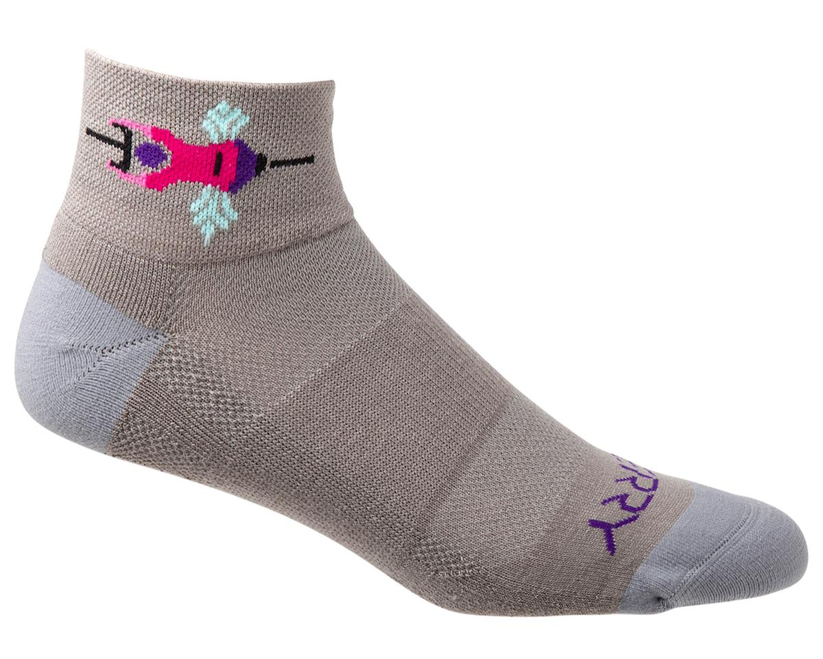 Terry Air Stream Socks (Team Ride/Gray) (L/XL)