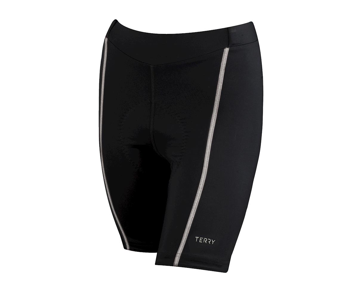 "Image 1 for Terry Women's Bella 8.5"" Shorts (Gloss Black/Grey) (Xxlarge)"
